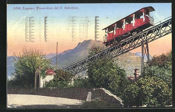 AK Lugano, Funicolare del S. Salvatore, Bergbahn