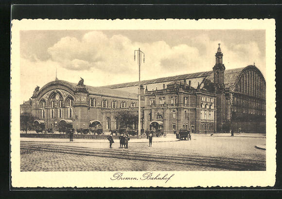 AK Bremen, Kinder am Bahnhof
