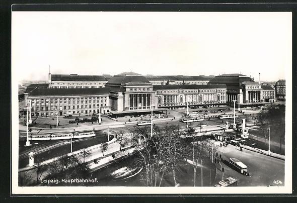 AK Leipzig, Blick zum Hauptbahnhof