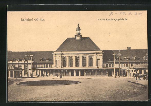 AK Görlitz, Neues Empfangsgebäude am Bahnhof