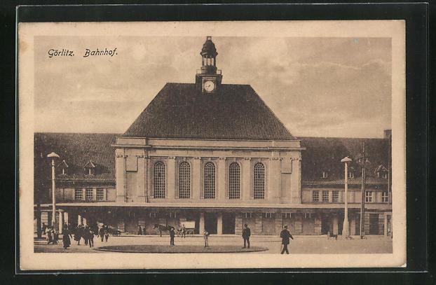 AK Görlitz, Blick zum Bahnhof