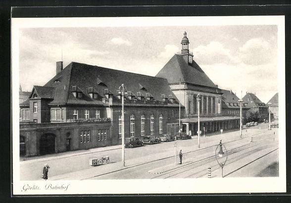 AK Görlitz, Partie am Bahnhof