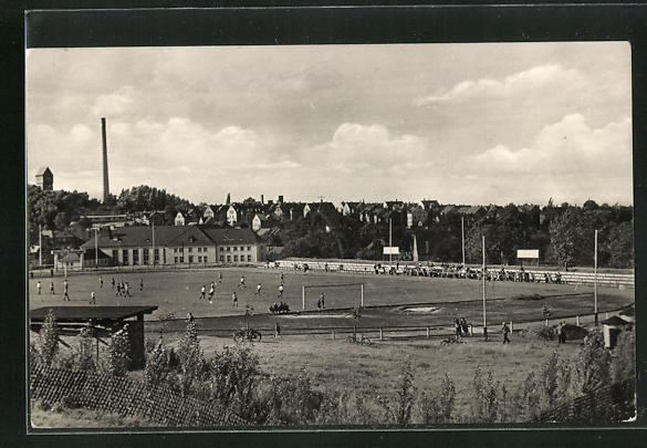 AK Oelsnitz / Erzgeb., Albert-Funke-Kampfbahn, Fussballfeld