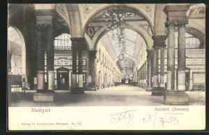AK Stuttgart, Inneres des Bahnhofs