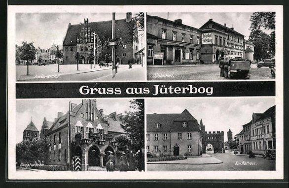 AK Jüterbog, Bahnhof, Am Dammtor, Am Rathaus