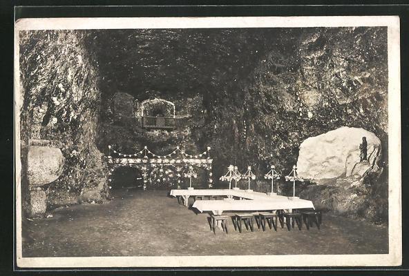 AK Kochendorf, Steinsalzwerk, Schacht König Wilhelm II., Festsaal, Innenansicht