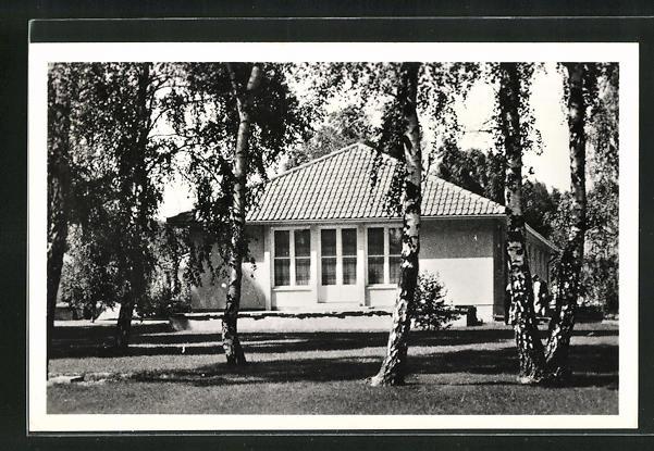 AK Dallgow-Döberitz, Olympisches Dorf, Wohnhaus an der oberen Dorfaue