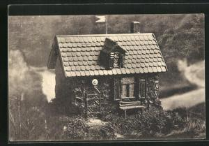 AK Mühlhausen in Thür., Modell der Schutzhütte des Vereins Die Naturfreunde