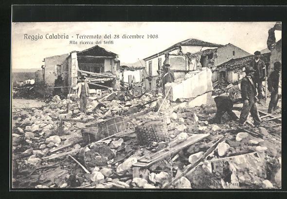 AK Reggio Calabria, Terremoto del 28 dicembre 1908, Alla ricerca dei feriti