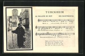 AK Turckheim, Lied Der Nachtwächter, Nachtwächter zieht durch die Strasse
