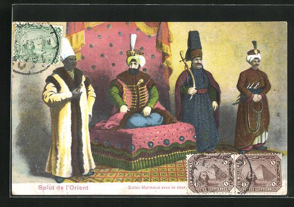 AK Sultan Mahmoud avec sa cour