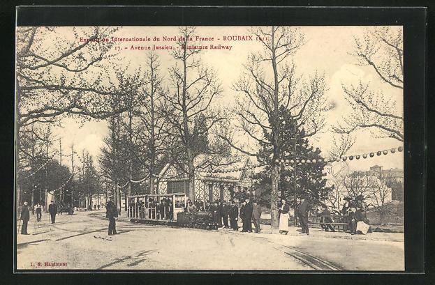 AK Roubaix, Exposition Internationale du Nord e la France 1911, Miniature Railway, Avenue Jussieu
