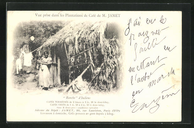 AK Les Plantations de Cafe de M. Jamet, Ranchos d`indiens