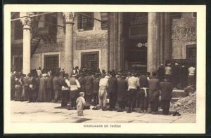 AK Betende Muslime in der Moschee