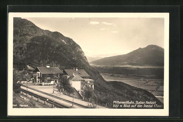 AK Hochzirl, Station Hochzirl der Mittelwaldbahn