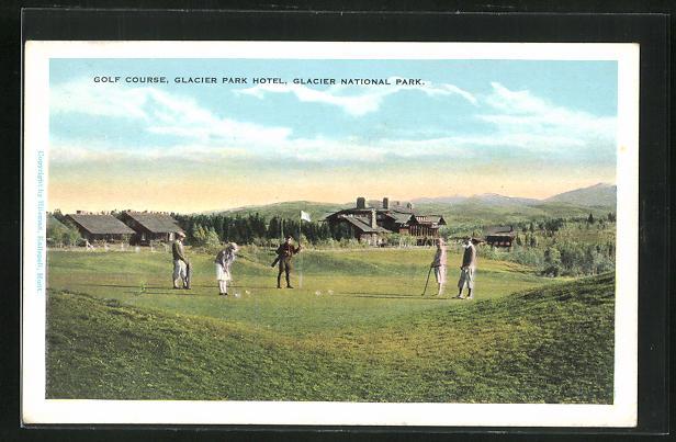 AK Clacier National Park, MT, Colf Course in Glacier Park Hotel