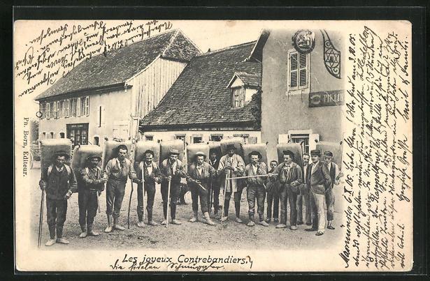 AK Schmuggler an der Deutsch-Französischen Grenze