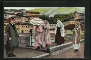 AK Sarajewo, Türkinnen auf der Strasse