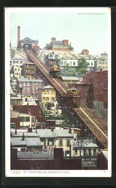 AK Cincinnati, OH, Mt. Adams Incline, Bergbahn