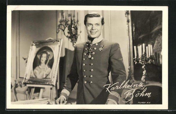 AK Schauspieler Karlheinz Böhm in Uniform