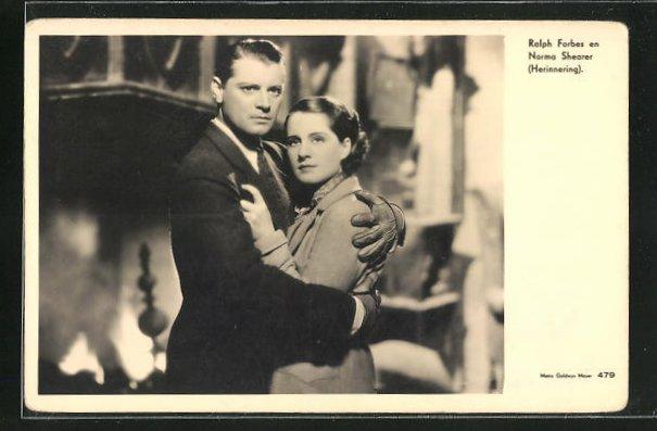 AK Schauspieler Ralph Forbes & Schauspielerin Norma Shearer in Herinnering