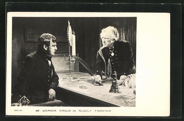 AK Schauspieler Werner Kraus & Schauspieler Rudolf Forster