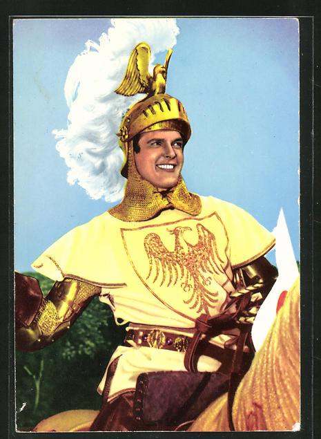 AK Schauspieler Roger Moore in Ivanhoe