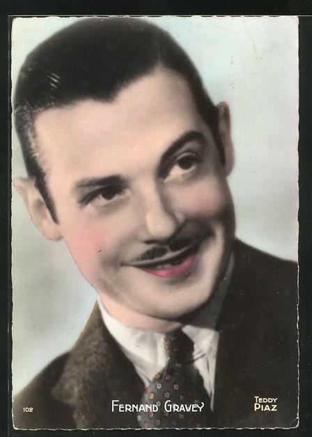 AK Schauspieler Fernand Gravey im Anzug