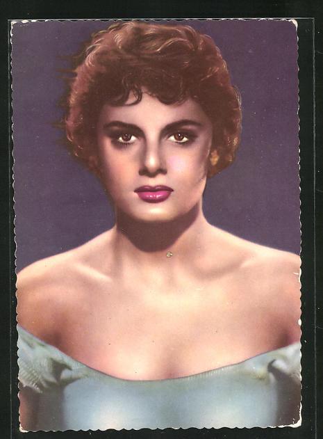 AK Schauspielerin Rossana Podesta ernst blickend