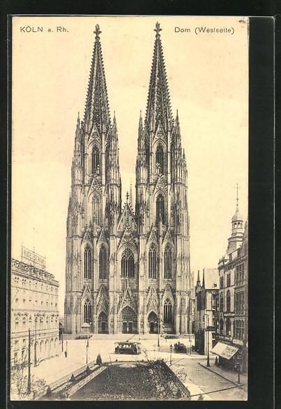 AK Köln, Der Kölner Dom, Westseite