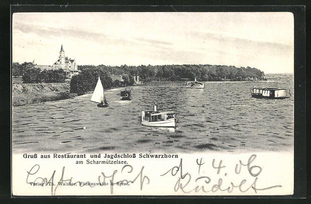 AK Wendisch Rietz, Restaurant und Jagdschloss Schwarzhorn am Scharmützelsee