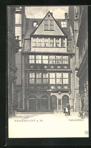 AK Alt-Frankfurt, Leute vor dem Rothschildhaus