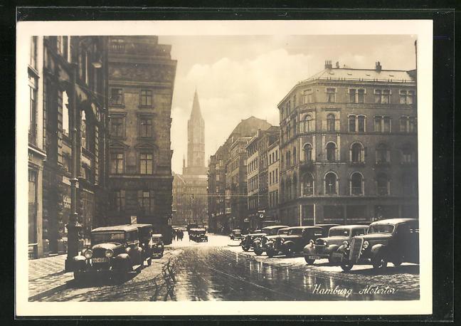 AK Hamburg, Blick in die Alstertor-Strasse