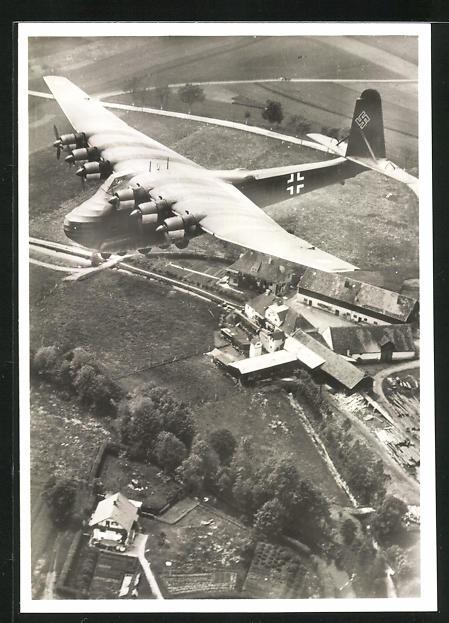 AK Grossraumtransporter Messerschmitt Me 323 Gigant, Fliegeraufnahme