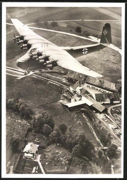 AK Grossraumtransporter Messerschmitt Me 323 Gigant im Fluge