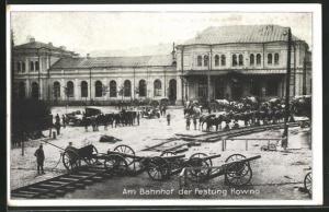 AK Kowno, Am Bahnhof der Festung