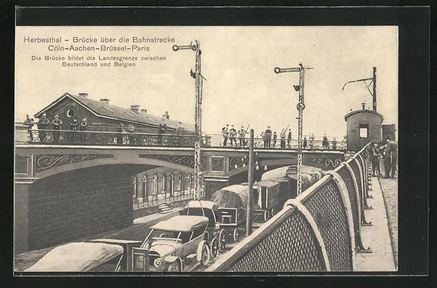 AK Herbesthal, Brücke über die Bahnstrecke