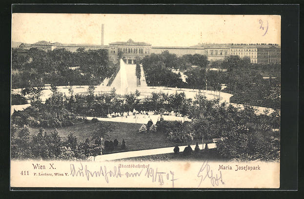 AK Wien, Staatsbahnhof & Maria Josefapark