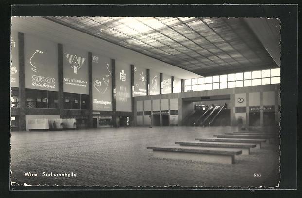 AK Wien, Partie in der Südbahnhalle
