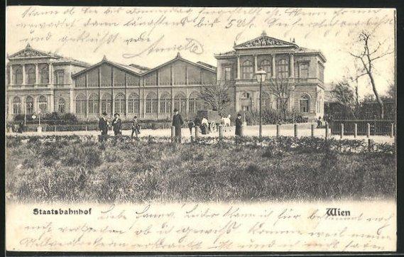 AK Wien, Partie am Staatsbahnhof