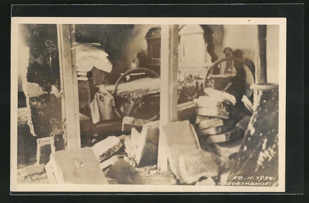 AK Wien, Februarkämpfe 1934, Zerstörungen im Goethe-Hof