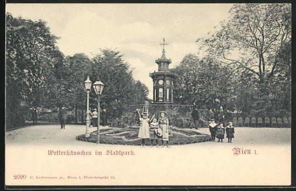 AK Wien, Wetterhäuschen im Stadtpark