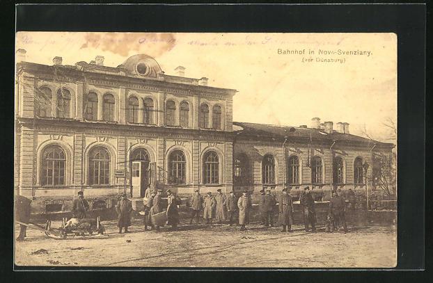 AK Novo-Svenziany, Soldaten am Bahnhof