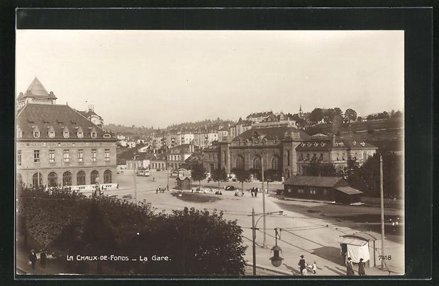 AK La Chaux-de-Fonds, La Gare