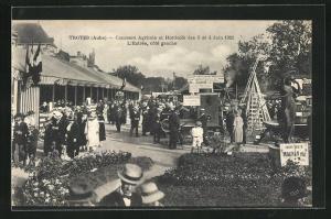 AK Troyes, Concours Agricole et Horticole des 3 et 4 Juin 1922, L`Entrée