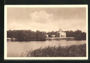 AK Potsdam, Marmorpalais am heiligen See, Reichswinterhilfe-Lotterie 1934 /35, Ganzsache 6 Pf.
