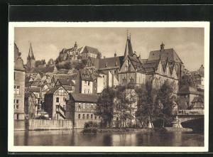 AK Marburg, Teilansicht der Stadt, Reichswinterhilfe-Lotterie 1934 /35, Ganzsache 6 Pf.