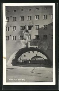 AK Wien, zerstörter Torborgen Marx Hof, Februarkämpfe 1934