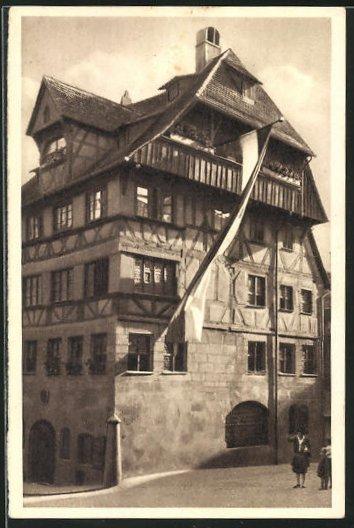 AK Nürnberg, Dürer-Haus, Ganzsache WHW Winterhilfswerk