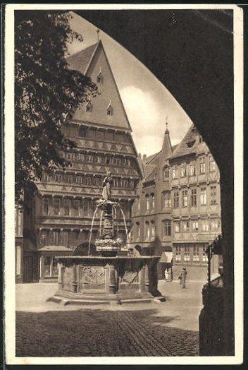 AK Hildesheim, Knochenhauer Amtshaus, Ganzsache WHW Winterhilfswerk